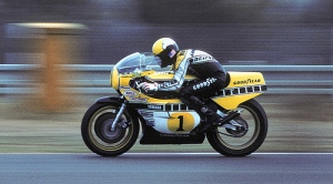 '78 World Champion Kenny Roberts at the '79 French G.P. at Le Mans,