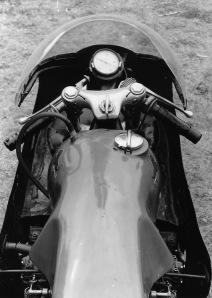 Riders cockpit.