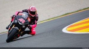 Aleix Espargro on the Yamaha production racer at the Valencia test.
