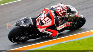 Nicly Hayden on the RCV1000R production racer in testing at Velencia.