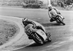 Phil Read leads Newcombe at the 1973 Czehoslavakian G.P.