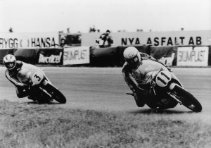 Newcombe leads Read at the Swedish Grand Prix.