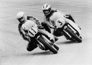 Kim and the Konig leads Read on the MV Agusta at the Swedish Grand Prix in 1973.