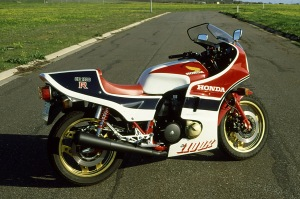 The fully faired 1982 CB1100RC Honda.