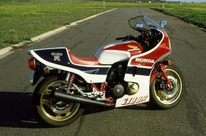 The fully faired 1982 CB1100RC Honda.
