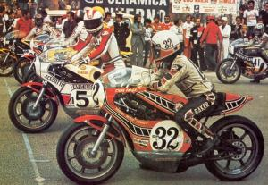 Baker on the grid alongside future factory teammate Johnny Ceccotto.