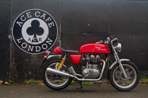 The latest in Royal Enfield's model line-up the 2014 Continental GT.