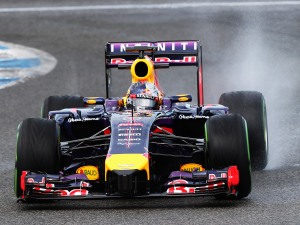 Four time World Champion Sebastian Vettel in the RB10.