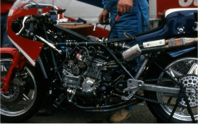 The tube frame  for the 1980 NR500.