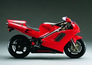 The 1992 NR750 Honda.