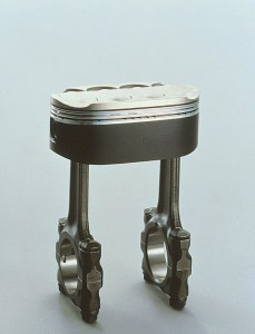 Oval piston from the NR750 Honda.