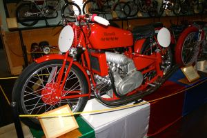 1939 Supercharged 250cc Benelli GP replica.