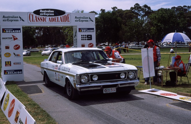 The1997 Classic Adelaide winning 1969 Ford GT HO of Hogarth and Walters.