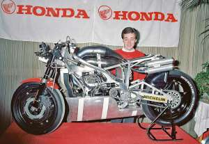 Freddie Spencer and the innovative NSR500 Honda.