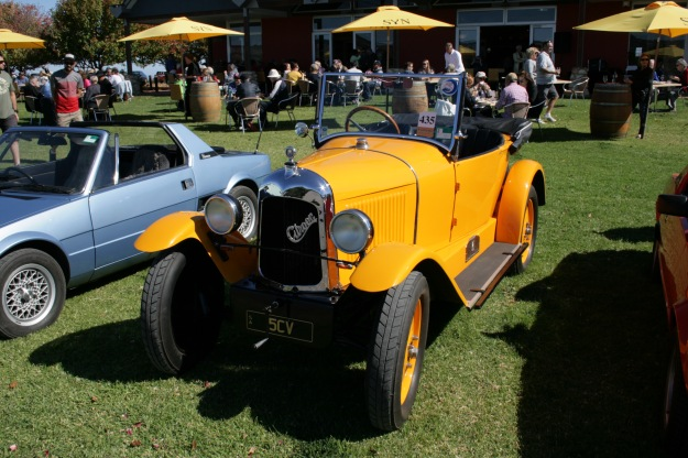 1920's Citroen 5CV on display at Lecconsfield Winery McLaren Vale.