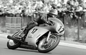 Giacomo Agostini on his way to winning German GP at the Nurburgring.