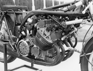 Honda used the engine as a stressed member for the chassis of the RC181.
