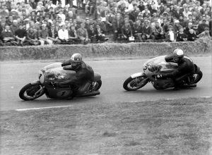 "Hailwood chases ""Ago"" in 1967."