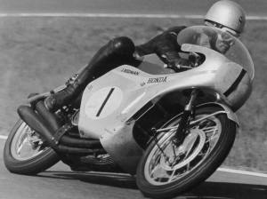 Hailwood's Honda wore the number 1 plate in 1966 after winning the 500cc crown for MV Agusta in 1965.